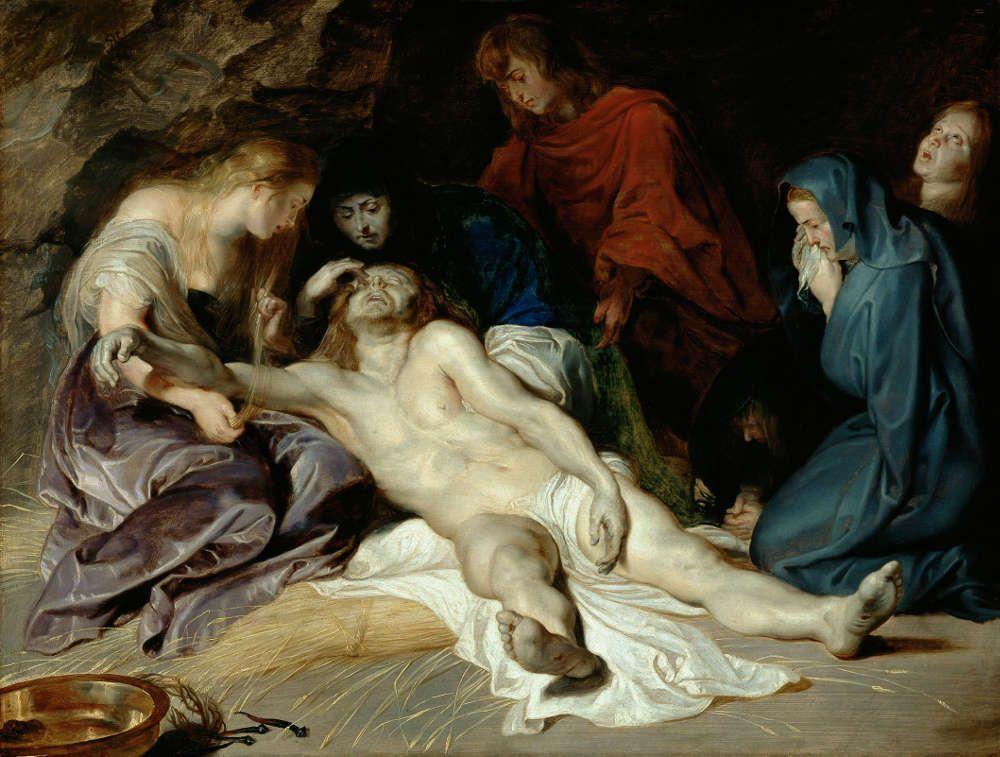 Peter Paul Rubens, Beweinung Christi, 1614 datiert, Öl/Eichenholz, 40,5 x 52,5 cm (© KHM-Museumsverband)