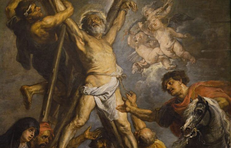 Peter Paul Rubens, Das Martyrium des hl. Andreas, Detail, um 1638/39, Öl/Lw, 305 x 216 cm (ohne Rahmen) (Fundación Carlos de Amberes, Madrid)
