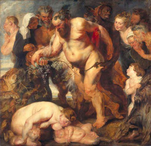 Peter Paul Rubens, Der trunkene Silen, um 1617/18, Anstückungen um 1625, Öl auf Holz, 212 × 214,5 cm (© Bayerische Staatsgemäldesammlungen, Alte Pinakothek, München)