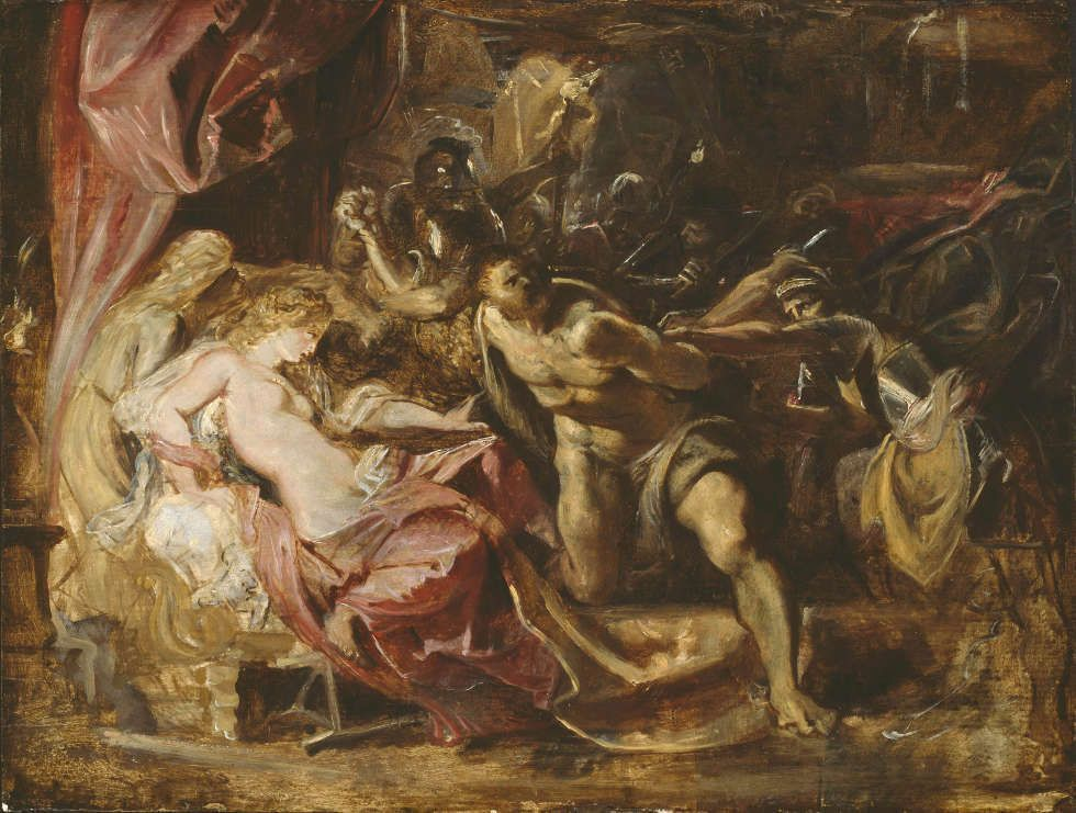 Peter Paul Rubens, Die Gefangennahme von Samson, 1609/10, Öl/Holz, 50.4 x 66.4 cm (Chicago, Art Institute of Chicago, Robert A. Waller Memorial Fund)
