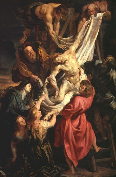 Peter Paul Rubens, Kreuzabnahme, um 1611/12, Öl/Holz, 115.2 x 76.2 cm (London, Courtauld Gallery)
