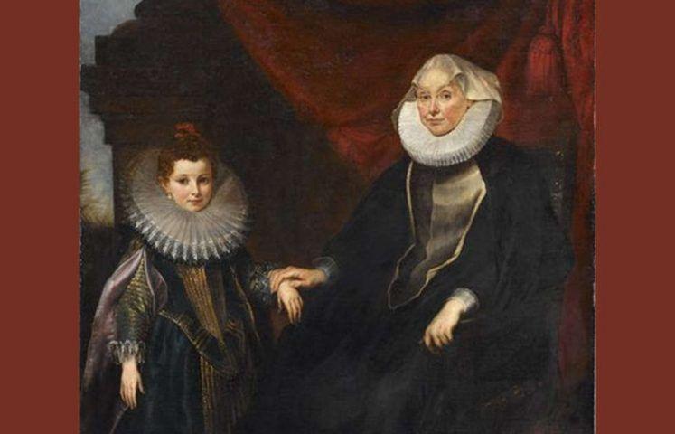 Peter Paul Rubens, Marchesa Bianca Spinola Imperiale und ihrer Nichte Maddalena Imperiale, Detail, um 1605/06 (Staatsgalerie Stuttgart)
