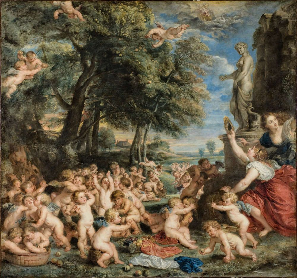 Peter Paul Rubens, Venusfest, nach Tizian, um 1635, Öl/Leinwand, 196 × 209,9 cm (Stockholm, Nationalmuseum, Inv. NM599 © Stockholm, Nationalmuseum)