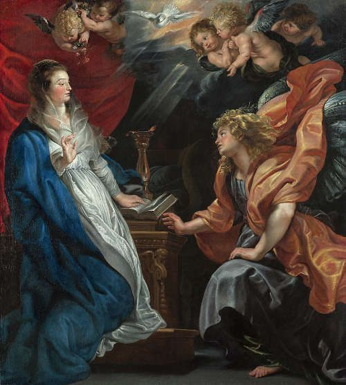 Peter Paul Rubens, Verkündigung, um 1609, Öl/Lw, 225 x 202 cm (Wien, Kunsthistorisches Museum)