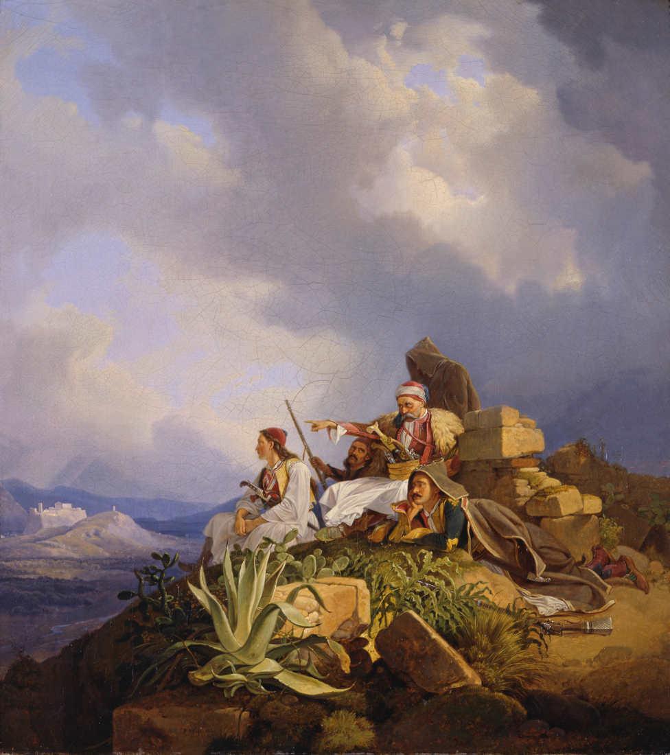 Peter von Hess, Palikaren bei Athen, Öl auf Leinwand, 49 x 44 cm (© Staatliche Museen zu Berlin, Nationalgalerie / Andres Kilger)