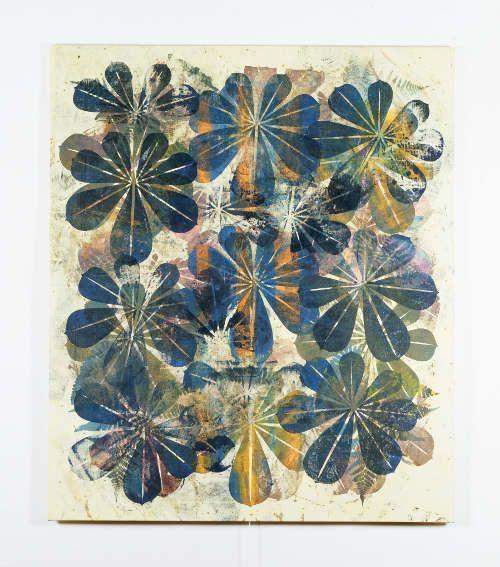 Philip Taaffe, Lupinus Culcidae, 1996, Mischtechnik auf Leinwand, 197 x 169,5 cm (evn sammlung, Maria Enzersdorf Courtesy Luhring Augustine New York © Philip Taaffe)