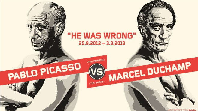 Poster Picasso/Duchamp - He was wrong, Detail, 2012 © Moderna Museet.