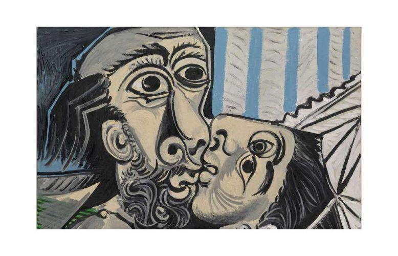 Picasso, Kuss, Detail, 1969 (Musée Picasso, Paris)