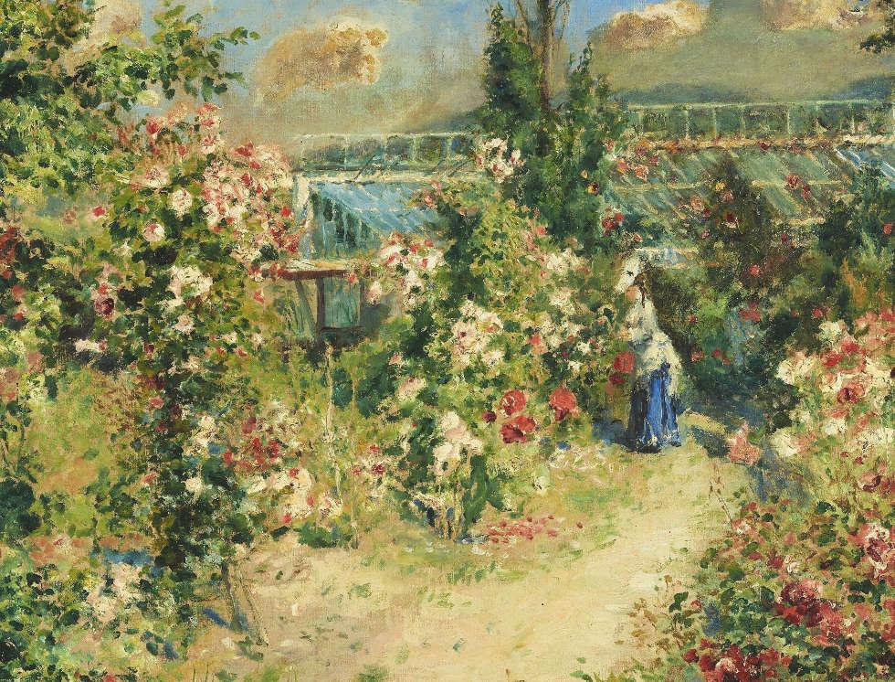 Pierre-Auguste Renoir, Das Gewächshaus [La Serre], um 1876 (Leihgabe aus Privatbesitz, Foto: © Staatsgalerie Stuttgart)