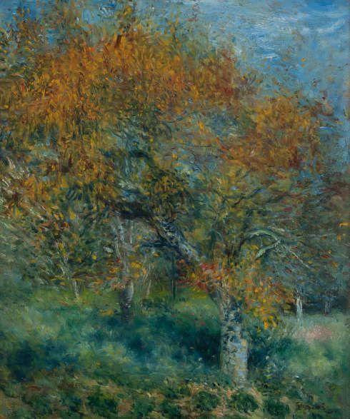 Pierre-Auguste Renoir, Der Birnbaum, um 1870, Öl auf Leinwand, 46,1 x 37,7 cm, Hasso Plattner Foundation