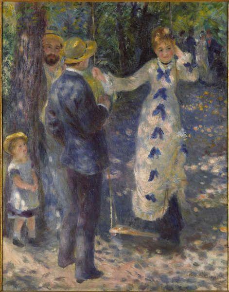 Pierre-Auguste Renoir, Die Schaukel [La Balançoire], 1876, Öl/Lw, 92 x 73 cm (Paris, Musée d'Orsay Photo © Musée d'Orsay, Dist. RMN-Grand Palais / Patrice Schmidt)