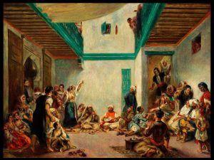 Pierre-Auguste Renoir, Die jüdische Hochzeit in Marokko / The Jewish Wedding in Morocco (nach / after Delacroix), um / about 1875, Öl auf Leinwand / Oil on canvas, 108.7 x 144.9 cm © Worcester Art Museum, Worcester, Massachusetts, Museum Purchase 1943.1