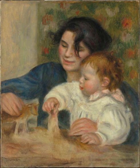 Pierre-Auguste Renoir, Gabrielle und Jean, 1895/96, Öl/Lw, 65 x 54 cm (Paris, Musée de l'Orangerie, RF 1960-18, Photo © RMN-Grand Palais (Musée de l'Orangerie) / Hervé Lewandowski)