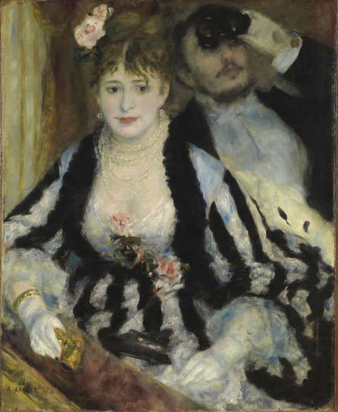 Pierre-Auguste Renoir, La Loge [Die Loge], 1874, Öl/Lw, 80 x 63.5 cm (The Courtauld Gallery (The Samuel Courtauld Trust, London)