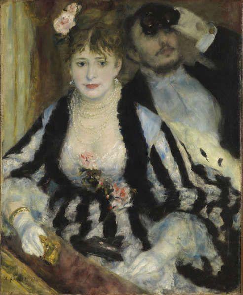 Pierre-Auguste Renoir, La Loge [Die Loge], 1874, Öl/Lw, 80 x 63.5 cm (The Courtauld Gallery (The Samuel Courtauld Trust, London)
