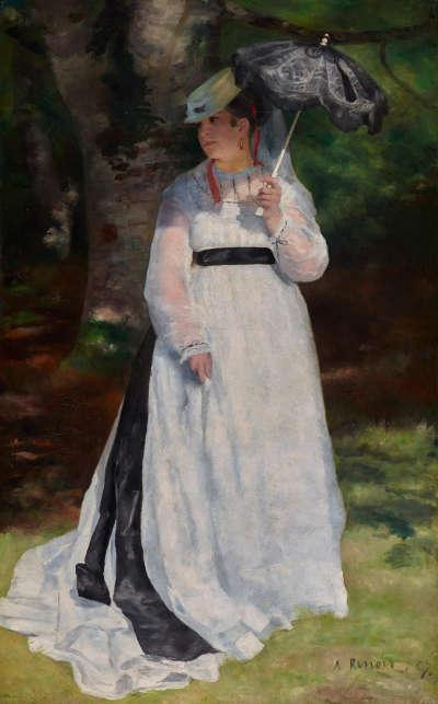 Pierre-Auguste Renoir, Lise – La femme à l'ombrelle [Lise mit dem Sonnenschirm], 1867, Öl auf Leinwand, 184 x 115,5 cm (Museum Folkwang, Essen, Foto: Jens Nober)