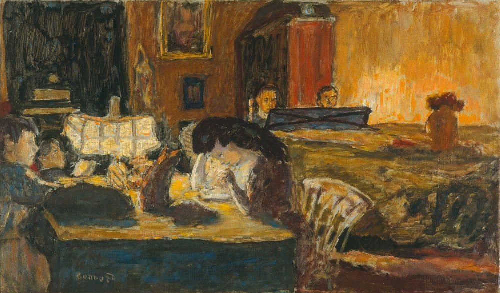 Pierre Bonnard, Abend im Wohnzimmer, 1907, Öl auf Leinwand, 42,5 x 73,4 cm (Privatbesitz © VG Bild-Kunst, Bonn 2017)