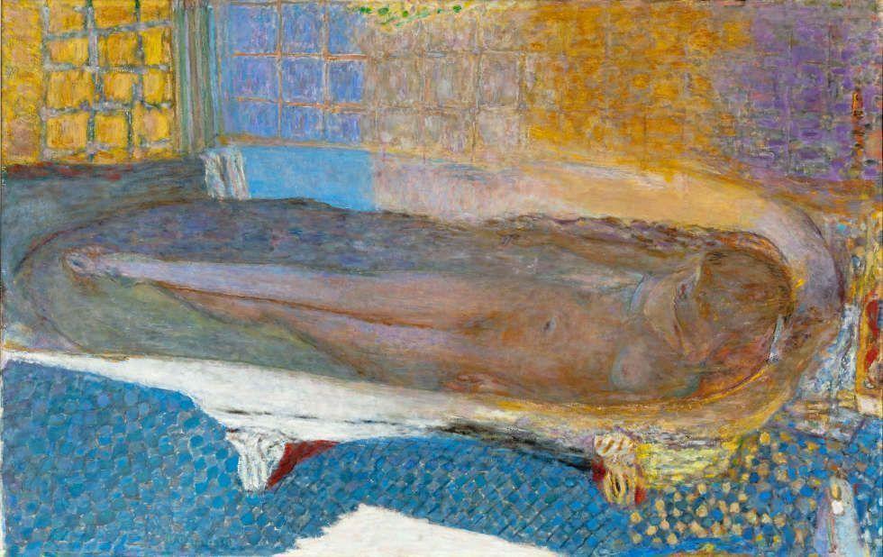 Pierre Bonnard, Akt im Bad [Nu dans le bain], 1936–1938, Öl/Lw, 93 x 147 cm (Musée d'Art moderne de la Ville de Paris/ Roger-Viollet)