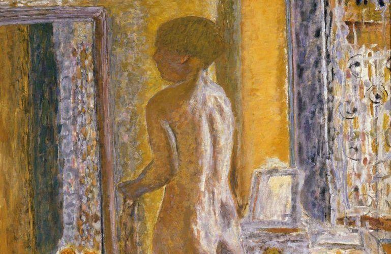 Pierre Bonnard, Akt vor dem Spiegel, Detail, 1931, Öl auf Leinwand, 152 x 102 cm (Photo Archive - Fondazione Musei Civici di Venezia © VG Bild-Kunst, Bonn 2017 / Foto: Claudio Franzini)