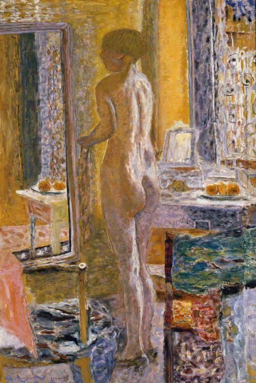 Pierre Bonnard, Akt vor dem Spiegel, 1931, Öl auf Leinwand, 152 x 102 cm (Photo Archive - Fondazione Musei Civici di Venezia © VG Bild-Kunst, Bonn 2017 / Foto: Claudio Franzini)
