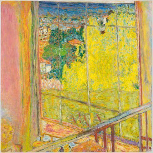 Pierre Bonnard, Atelier mit Mimosen, 1939–1946, Öl/Lw, 127,5 x 127,5 cm (Musée National d'Art Moderne - Centre Pompidou, Photo © Centre Pompidou, MNAM-CCI, Dist. RMN-Grand Palais)
