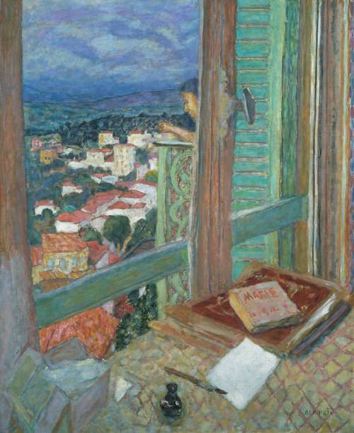 Pierre Bonnard, Das Fenster, 1925, Öl auf Leinwand, 108,6 x 88,6 cm (Tate, London © VG Bild-Kunst, Bonn 2017 / Foto: Tate, London 2017)