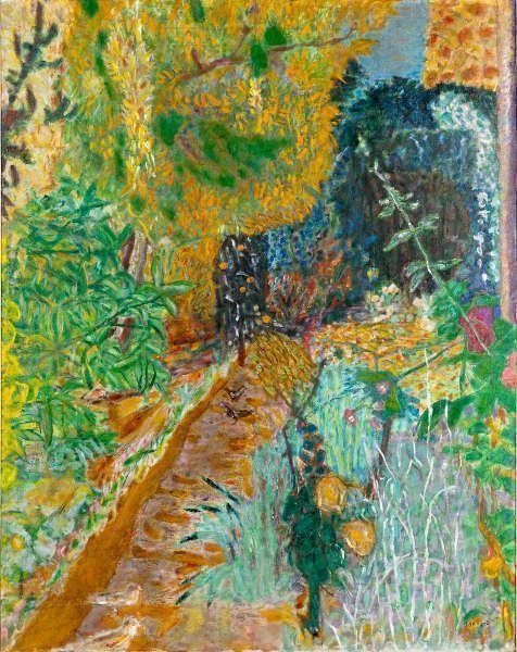 Pierre Bonnard, Der Garten [Le Jardin], 1936, Öl/Lw, 127 x 100 cm (Musée d'Art moderne de la Ville de Paris/ Roger-Viollet)
