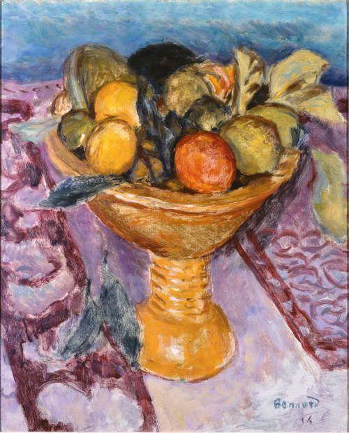 Pierre Bonnard, Die Obstschale, 1914, Öl auf Karton, 46 x 37,5 cm (Privatbesitz)