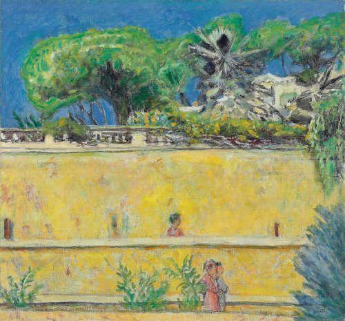 Pierre Bonnard, Terrasse in Südfrankreich, um 1925, Öl auf Leinwand, 78 x 63 cm (Collection Fondation Glénat, Grenoble © VG Bild-Kunst, Bonn 2017)