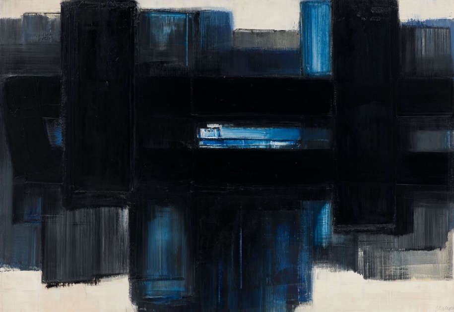 Pierre Soulages, Peinture 89 × 130 cm, 7 juillet 1957 –1958, Öl/Lw (Kunstbesitz der Landeshauptstadt Hannover, Sprengel Museum Hannover © VG Bild-Kunst, Bonn 2020)