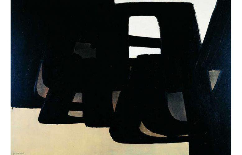Pierre Soulages, Peinture , 13 juin 1971, Öl/Leinwand, 111 x 162 cm (Sammlung Domnick © VG Bild-Kunst, Bonn 2020)