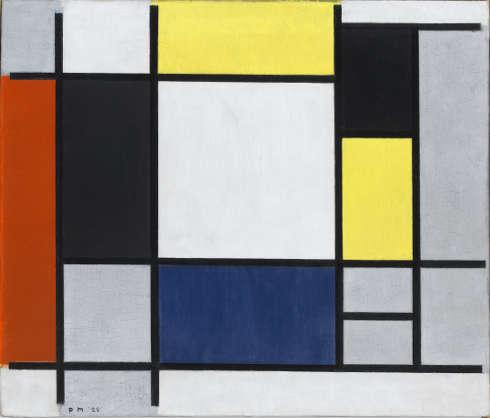 Piet Mondrian, Komposition mit Gelb, Rot, Schwarz, Blau und Grau, 1920 (Stedelijk Museum Amsterdam)
