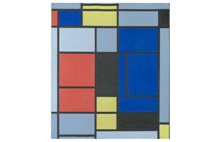 Piet Mondrian, Tableau No. I, 1921–1925, Öl auf Leinwand, 75,5 x 65,5 cm (Fondation Beyeler, Riehen / Basel, Sammlung Beyeler © Mondrian / Holtzman Trust, c/o HCR International Warrenton, VA USA, Foto: Robert Bayer, Basel)