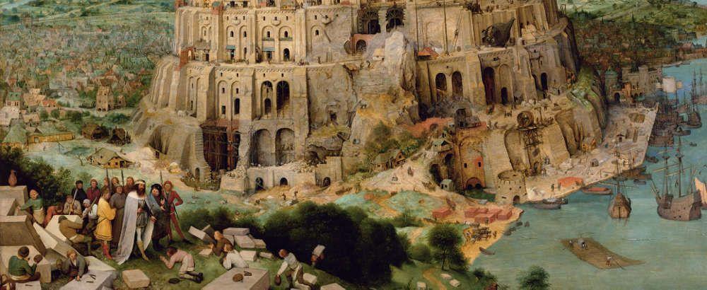 Pieter Bruegel der Ältere, Der Turmbau zu Babel, Nimrod, 1563, signiert und datiert, Öl auf Eichenholz, 114 x 155 cm (Wien, Kunsthistorisches Museum, Inv.-Nr. 1026)