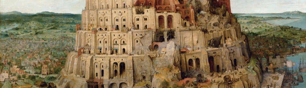 Pieter Bruegel der Ältere, Der Turmbau zu Babel, Stadt Babylon, 1563, signiert und datiert, Öl auf Eichenholz, 114 x 155 cm (Wien, Kunsthistorisches Museum, Inv.-Nr. 1026)