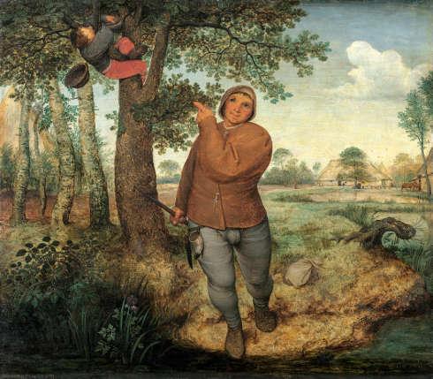 Pieter Bruegel d. Ä., Bauer und Vogeldieb, 1568, Öl auf Holz, 59,3 x 68,3 cm (Kunsthistorisches Museum, Gemäldegalerie © KHM-Museumsverband)