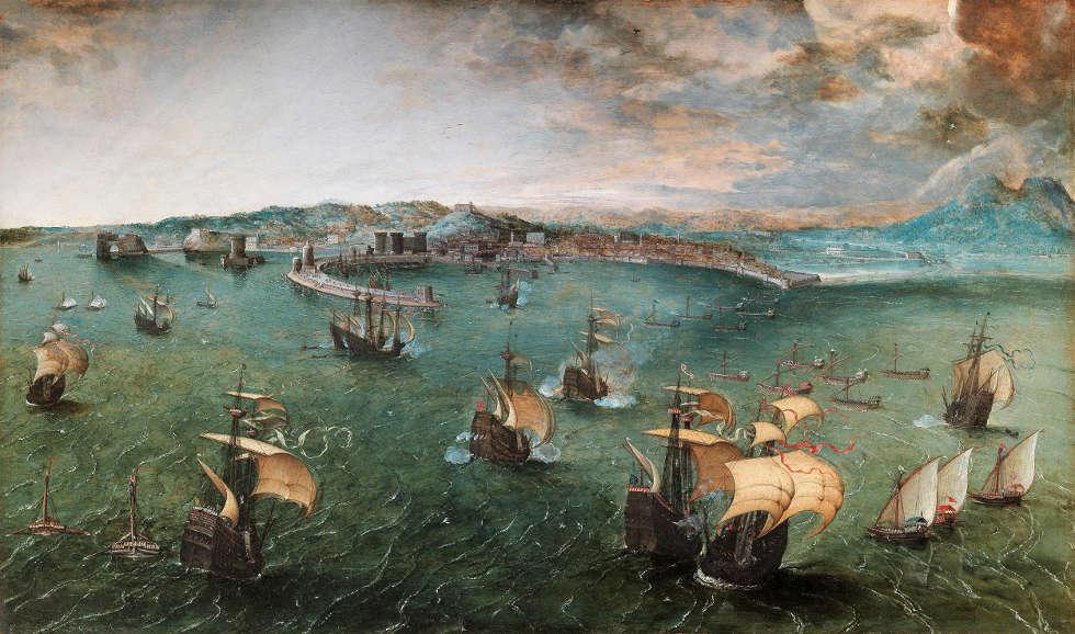 Pieter Bruegel d. Ä., Der Hafen von Neapel, um 1563?, 42,2 × 71,2 cm (Rom, Galleria Doria Pamphilj © Galleria Doria Pamphilj)