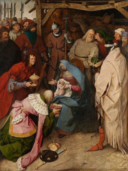 Pieter Bruegel d. Ä., Die Anbetung der Könige, 1564, Eichenholz, 112,1 × 83,9 cm (National Gallery, London, U.K. © The National Gallery, London 2018)