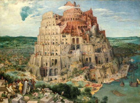 Pieter Bruegel d. Ä., Turmbau zu Babel, 1563, Öl auf Holz, 114 x 155 cm (Kunsthistorisches Museum, Gemäldegalerie © KHM-Museumsverband)
