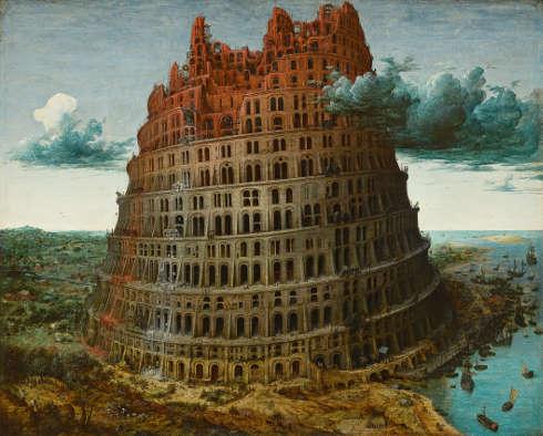 Pieter Bruegel d. Ä., Turmbau zu Babel, nach 1563?, Eichenholz, 59,9 × 74,6 cm (Museum Boijmans Van Beuningen © Museum Boijmans Van Beuningen, Rotterdam Photographer: Studio Tromp, Rotterdam)