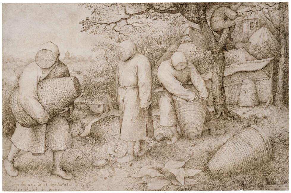 Pieter Bruegel d. Ä., Die Imker, um 1568, Feder in Braun, 203 × 309 mm (© Foto: Kupferstichkabinett der Staatlichen Museen zu Berlin - Preußischer Kulturbesitz Fotograf/in: Jörg P. Anders)