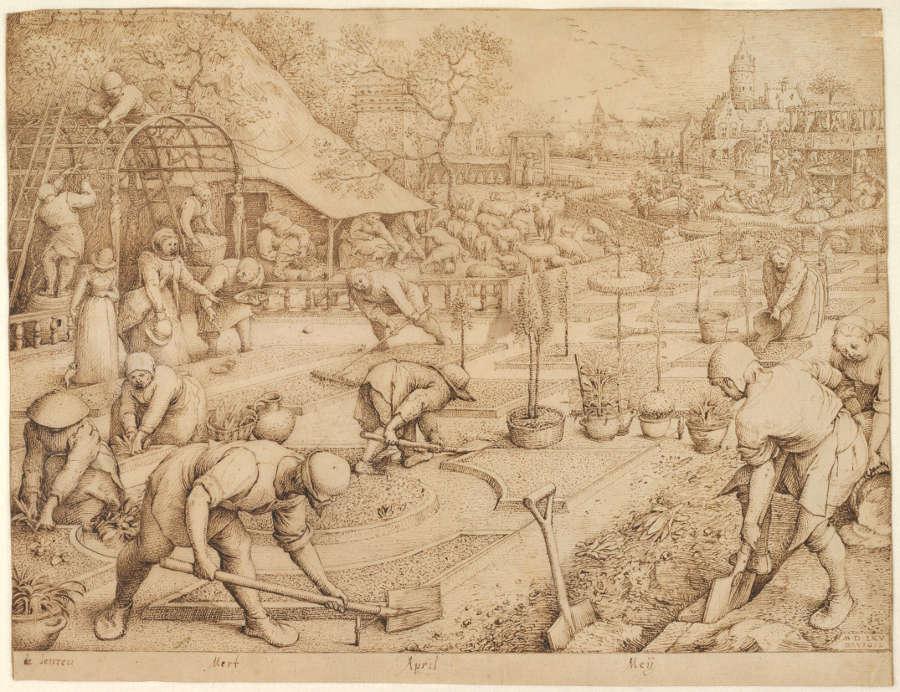 Pieter Bruegel d. Ä., Der Frühling, 1565, Feder in Braun, 22 x 29 cm (© Albertina, Wien, Inv. 23750)