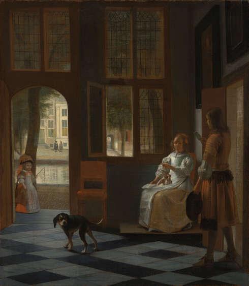 Pieter de Hooch, Eine Frau erhält einen Brief, 1670 (Rijksmuseum, Amsterdam)