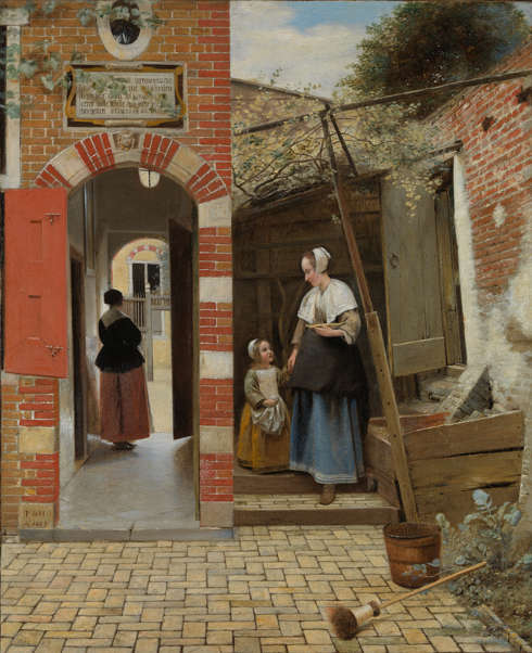 Pieter de Hooch, Hof eines Delfter Hauses, 1658 (The National Gallery, London)