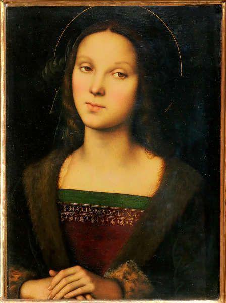 Pietro Perugino, Maria Magdalena, Öl/Holz, 47 x 35 cm (Galleria Palatina di Palazzo Pitti, Florenz)