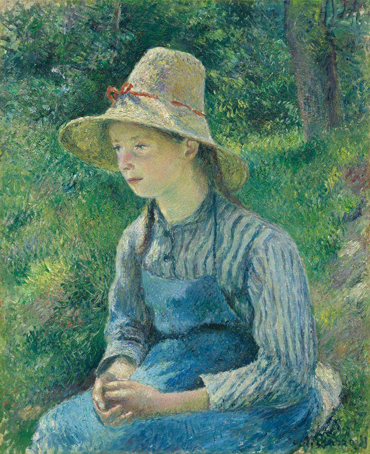 Camille Pissarro, Junges Bauernmädchen mit Hut, 1881, Öl auf Leinwand, 73,4 x 59,6 cm (National Gallery of Art, Washington)