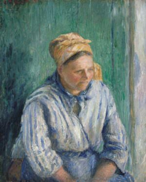 Camille Pissarro, Wäscherin, Studie, 1880, Öl auf Leinwand, 73 x 59,1 cm (The Metropolitan Museum of Art, New York)