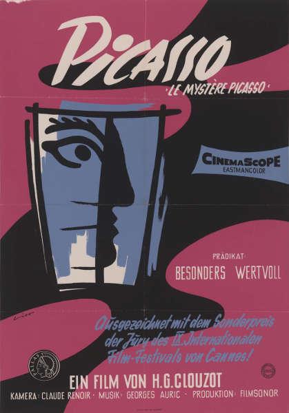 Plakat für H.G. Clouzots Film Le Mystère Picasso, 1956 (Foto: HAStK, Best. 1475, Pl)