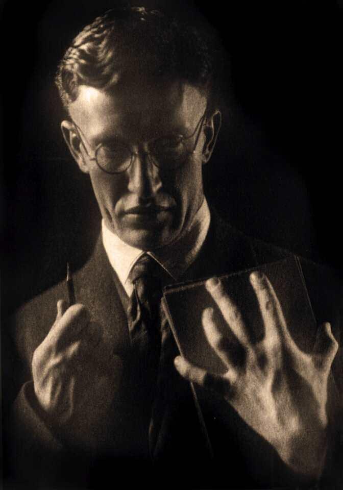 Porträt Klemens Brosch, 1925 oder 1926, Foto: Otto Kaiser, Linz.