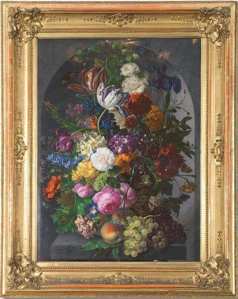 Joseph Nigg, Blumenstillleben in Vase, 1818, Porzellanbild, Kaiserliche Porzellanmanufaktur Wien, © MAK/Georg Mayer